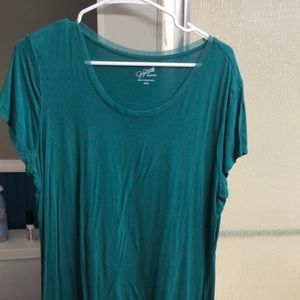 Green scoop neck